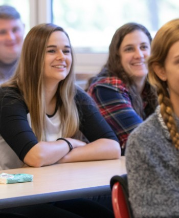 students in class at Emmaus Bible College