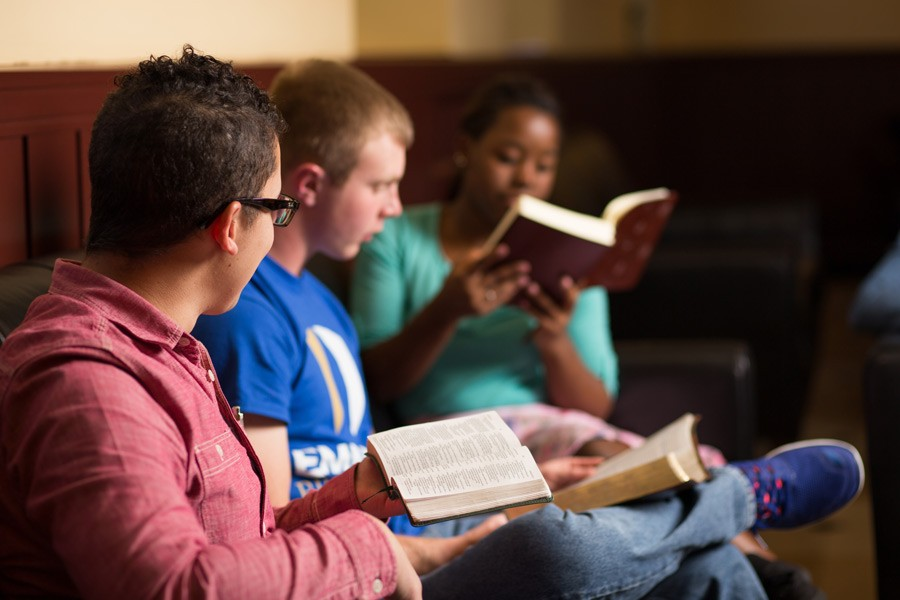 Student Bible Study in the Coffee Shop