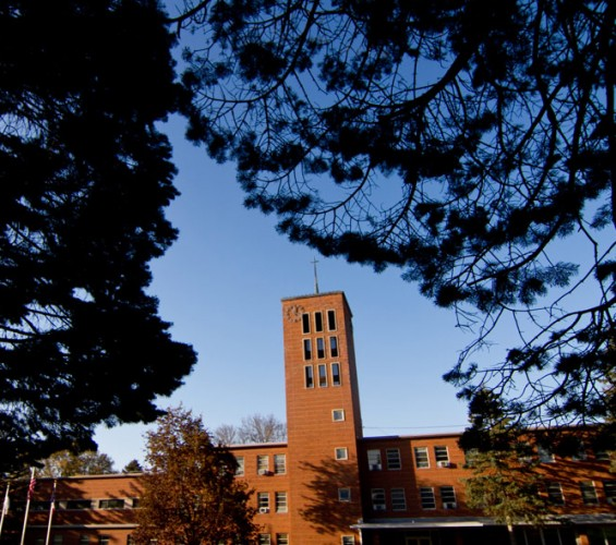 The clock tower at Emmaus Bible College
